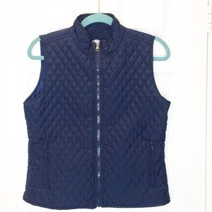 Woman's quilted vest jacket coat Bolle medium blue